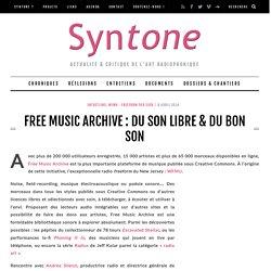 Free Music Archive : du son libre & du bon son