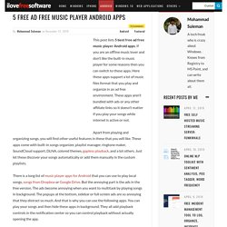 5 Free Ad Free Music Player Android Apps