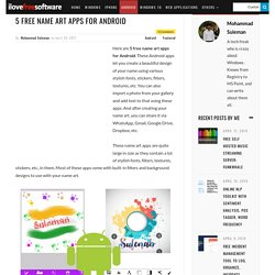 5 Free Name Art Apps For Android