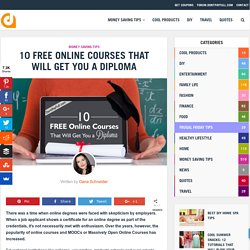 10 Free Online Courses That Will Get You a Diploma