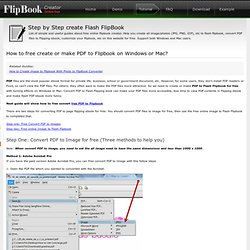 Free Online Create/make PDF to FlipBook