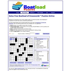 Free Online Crossword Puzzles