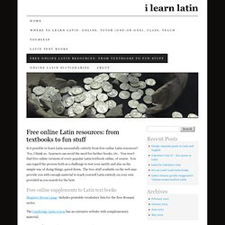 Free online Latin resources | ilearnlatin