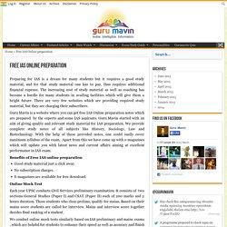 Free IAS Online Preparation