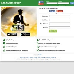 Free online football manager game - Soccer Manager.com