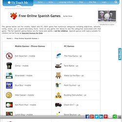 Free Online Spanish Games