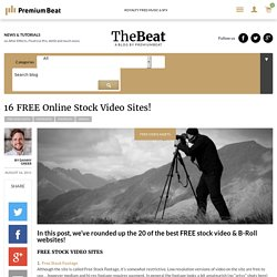 16 FREE Online Stock Video Sites!