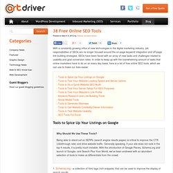 38 Free Online SEO Tools
