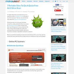 7 Free Online Virus Scan Websites