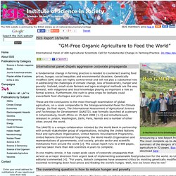 GM-Free Organic Agriculture to Feed the World