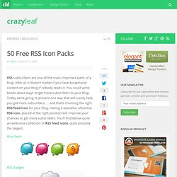 50 Free RSS Icon Packs | CrazyLeaf Design Blog