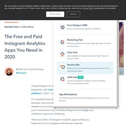 The Free and Paid Instagram Analytics Apps You Need in 2020