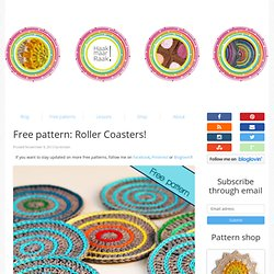 Free pattern: Roller Coasters!