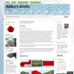 Free Pattern- On the Side « Abby's Knits