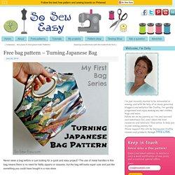 Free bag pattern - Turning Japanese Bag