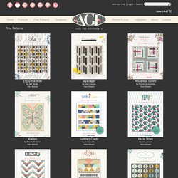 Free Patterns, Art Gallery Fabrics