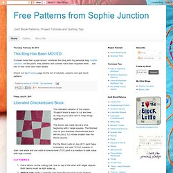 Free Patterns from Sophie Junction