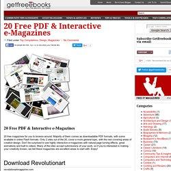 20 Free PDF & Interactive e-Magazines