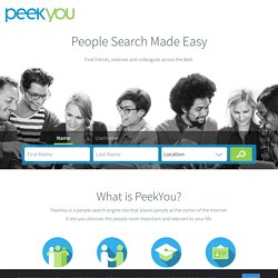 Free People Search | People Search | Search For People At PeekYou