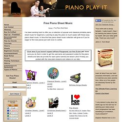 Free Piano Sheet Music