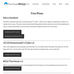 Free Plans - Tiny House Design