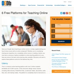 6 Free Platforms for Teaching Online