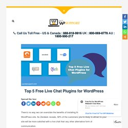 Top 5 Free Live Chat Plugins for WordPress