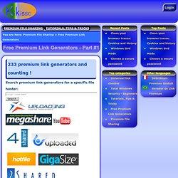 Free Premium Link Generators - Part #1