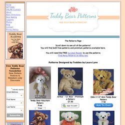 Free & Premium Teddy Bear Patterns