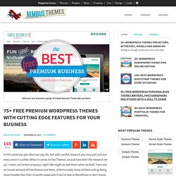 75+ Free Premium WordPress Themes 2016