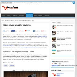 32 Free Premium WordPress Themes 2014