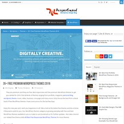 28 Free Premium WordPress Themes 2015
