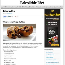 Try Our Free Easy To Prepare Paleo Muffins