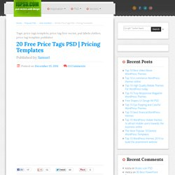 20 Free Price Tags PSD