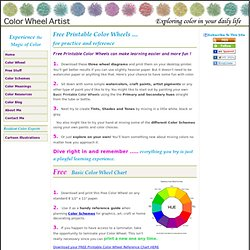Free Printable Color Wheels