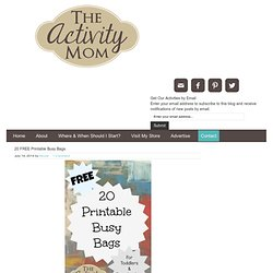 Free Printable Kids' Busy Bags