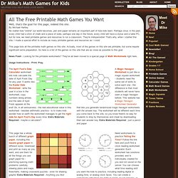 Dr Mike's Math Games for Kids