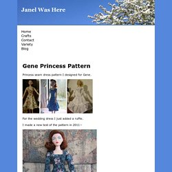 Free Princess Dress Pattern For Gene Doll