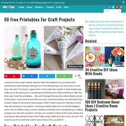 50 Free Printables for Craft Projects