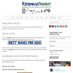 Free Printables - ResearchParent.com