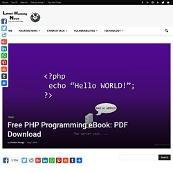 Free PHP Programming Book : PDF Download