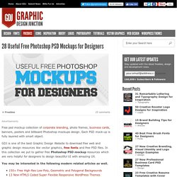 Free PSD Mockups for Designers