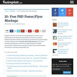 25+ Free PSD Poster/Flyer Mockups