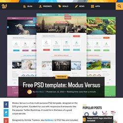 Free PSD template: Modus Versus