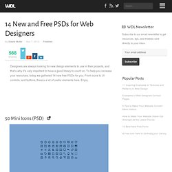 14 New and Free PSDs for Web Designers