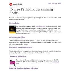 10 Free Python Programming Books