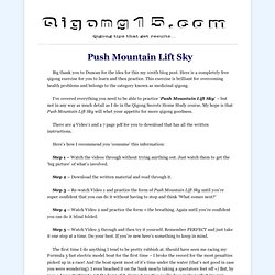 Free Qigong Exercises – Push Mountain Lift Sky