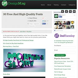 30 Free And High Quality Fonts - Web Design Blog – DesignM.ag