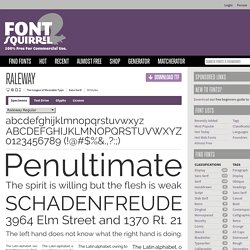 Free Font Raleway by The League of Moveable Type