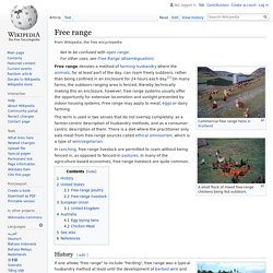 Free range - Wikipedia